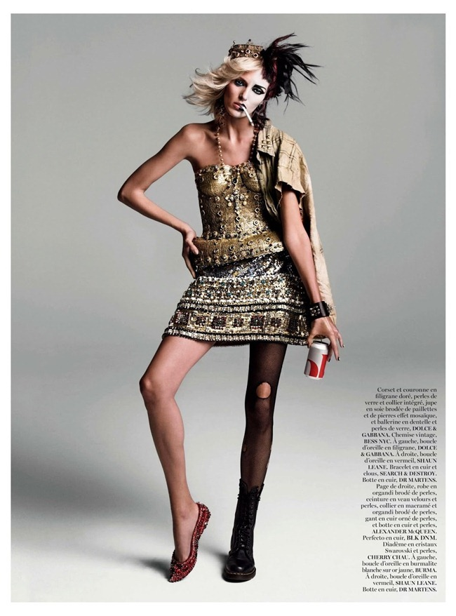 VOGUE PARIS- Anja Rubik in God Save the Queen by Inez & Vinoodh. Emmanuelle Alt, August 2013, www.imageamplified.com, Image Amplified (1)