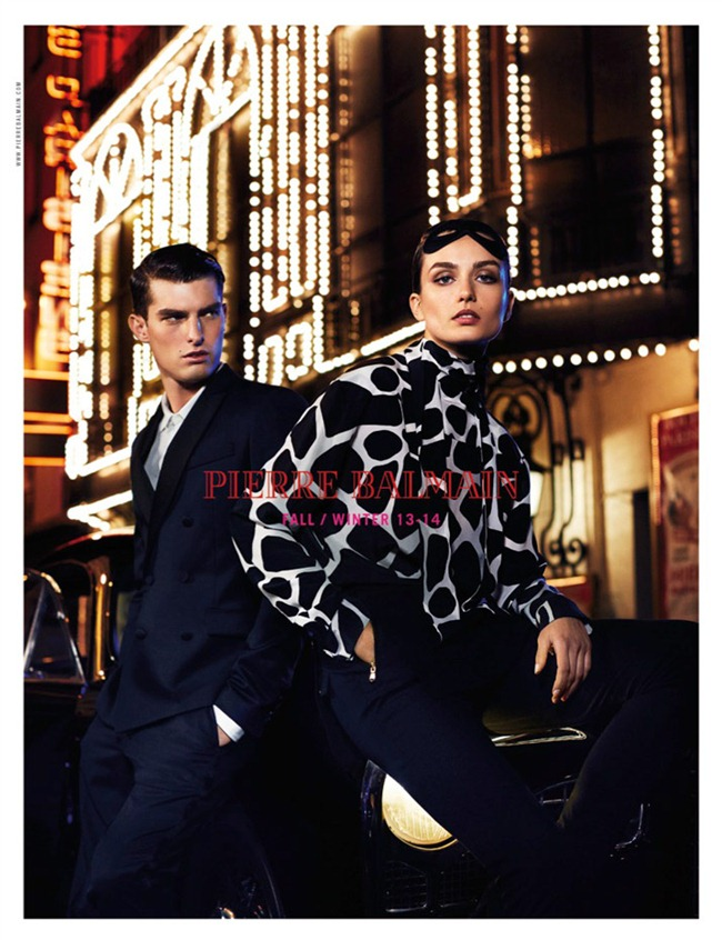 CAMPAIGN- Andreea Diaconu & Paolo Anchisi for Pierre Balmain Fall 2013 by Lachlan Bailey. Geraldine Saglio, www.imageamplified.com, Image Amplified