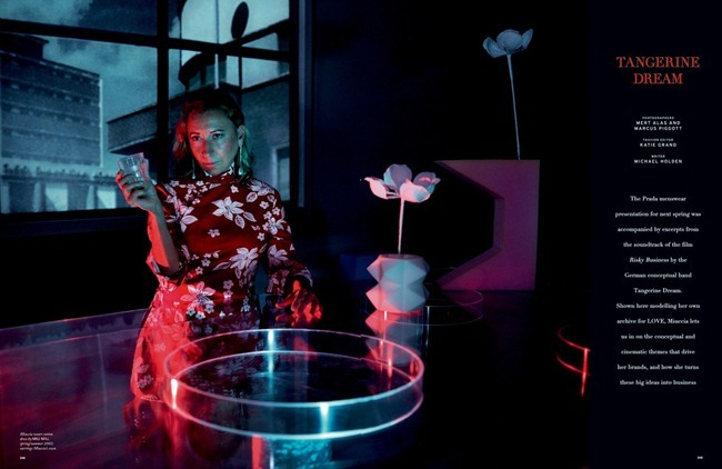LOVE MAGAZINE- Miuccia Prada, Benedikt Angerers & Klaus Vaivars in Tangerine Dream by Mert & Marcus. Katie Grand, Fall 2013, www.imageamplified.com, Image Amplified
