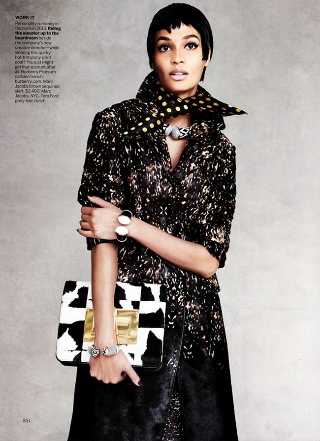 VOGUE MAGAZINE- Joan Smalls in Cover Me by Patrick Demarchelier. September 2013, www.imageamplified.com, Image Amplified