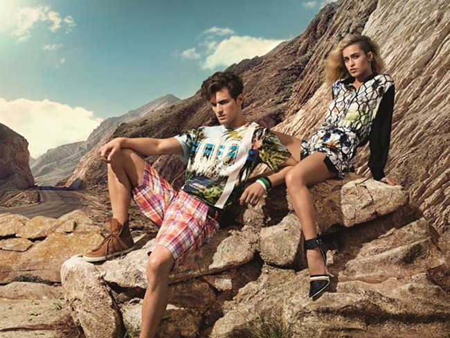 CAMPAIGN- Alice Dellal & Garrett Neff for Triton Summer 2014 by Zee Nunes. Daniel Ueda, www.imageamplified.com, Image Amplified (1)