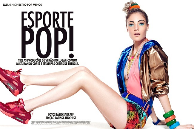 ELLE BRASIL- Barbara Berger in Esporte Pop! by Fabio Sarraff. Larissa Lucchese, www.imageamplified.com, Image Amplified