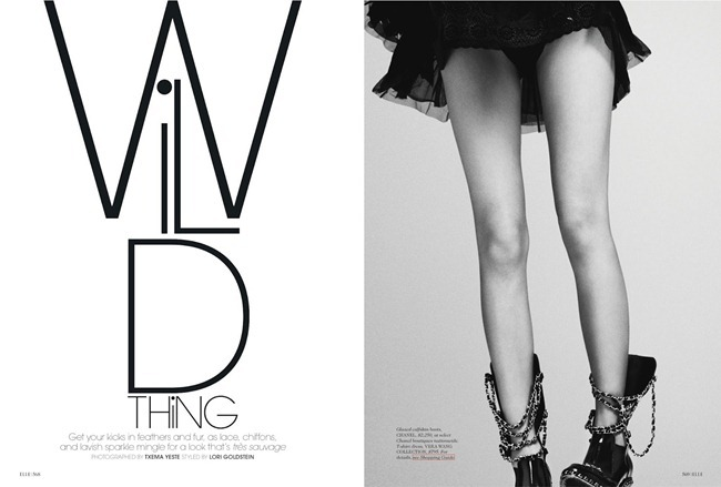 ELLE MAGAZINE- Tian Yi in Wild Thing by Txema yeste. Lori Goldstein, September 2013, www.imageamplified.com, Image Amplified