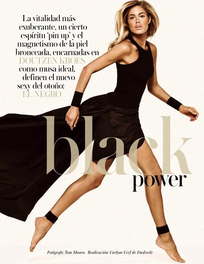 VOGUE SPAIN- Doutzen Kroes in Black Power by Tom Munro. Carlyne Cerf de Dudzeele, September 2013, www.imageamplified.com, Image Amplified (1)
