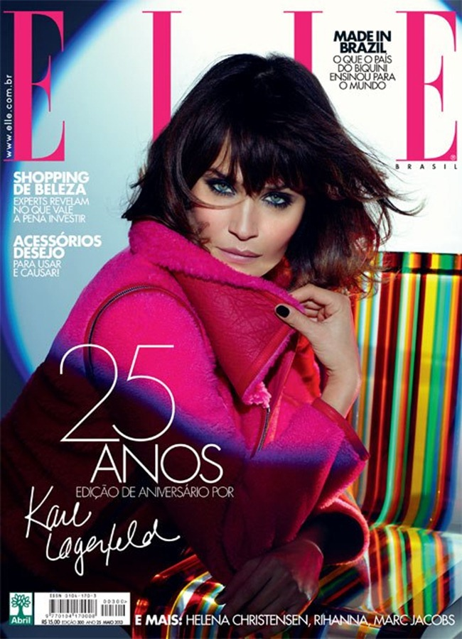 ELLE BRAZIL- helena Christensen by Karl Lagerfeld. May 2013, wwww.imageamplified.com, Image Amplified