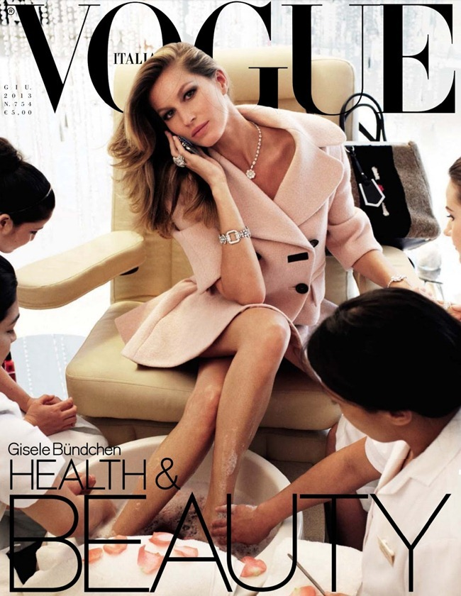 VOGUE ITALIA Gisele Bundchen in Luxury by Steven Meisel. Lori Goldstein, June 2013, www.imageamplified.com, Image Amplified (1)