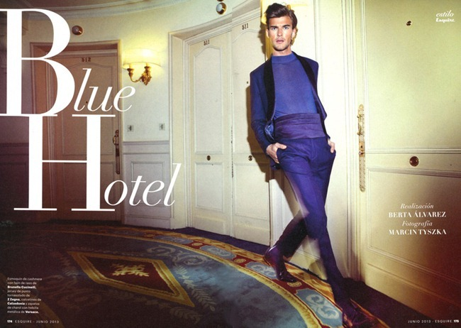 ESQUIRE SPAIN Patrick Kafka in Blue Hotel by Marcin Tyszka. June 2013, www.imageamplified.com, Image Amplified (5)