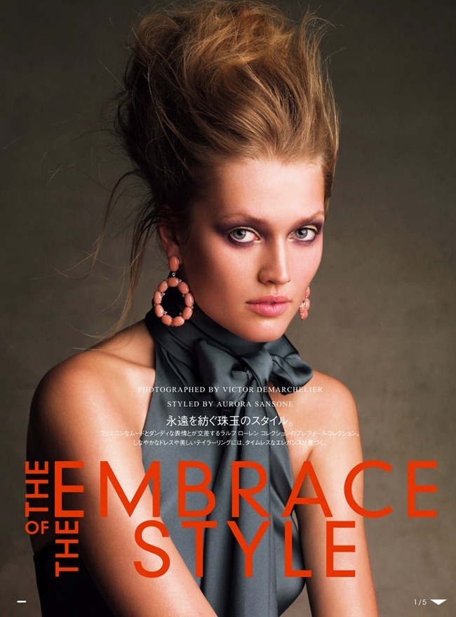 VOGUE JAPAN- Toni Garrn in The Embrace of the Style by Victor Demarchelier. Aurora Sansone, July 2013, www.imageamplified.com, Image Amplified
