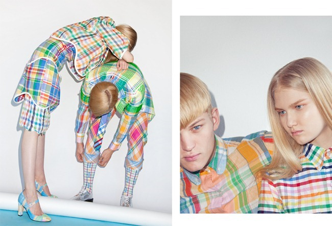 METAL MAGAZINE Sebastiain Sauve in Thom Browne by Charlie Engman. Spring 2013, www.imageamplified.com, Image Amplified (3)