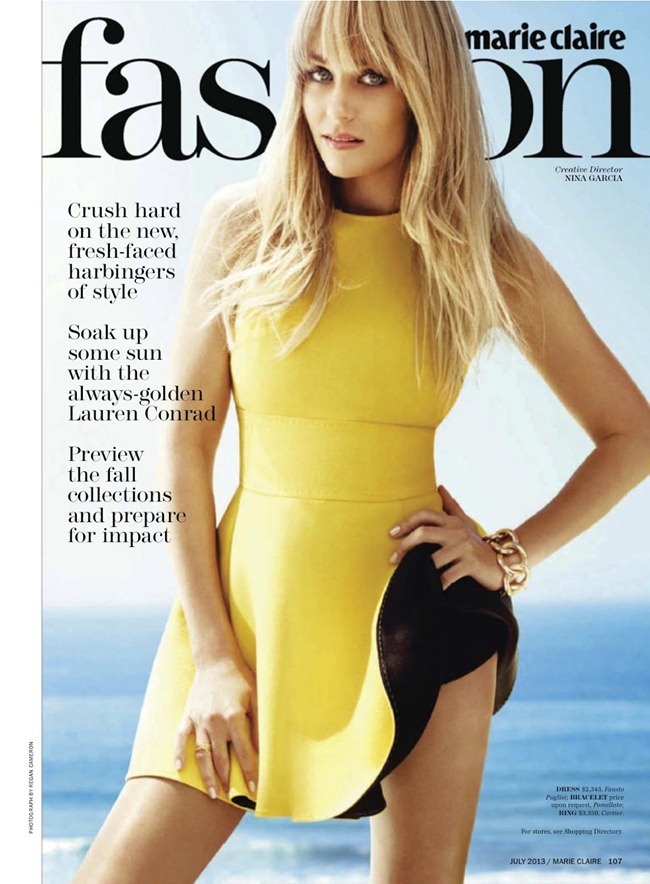 MARIE CLAIRE MAGAZINE Lauren Conrad in Golden Girl by Regan Cameron. Alison Edmond, July 2013, www.imageamplified.com, Image Amplified (1)