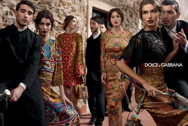 CAMPAIGN- Andreea Diaconu, Bianca Balti, Kate King & Monica Bellucci for Dolce & Gabbana Fall 2013 by Domenico Dolce. www.imageamplified.com, Image Amplified (11)