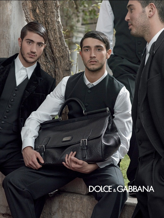 CAMPAIGN- Bianca Balti & Monica Bellucci for Dolce & Gabbana Menswear Fall 2013 by Domenico Dolce. www.imageamplified.com, Image Amplified (6)