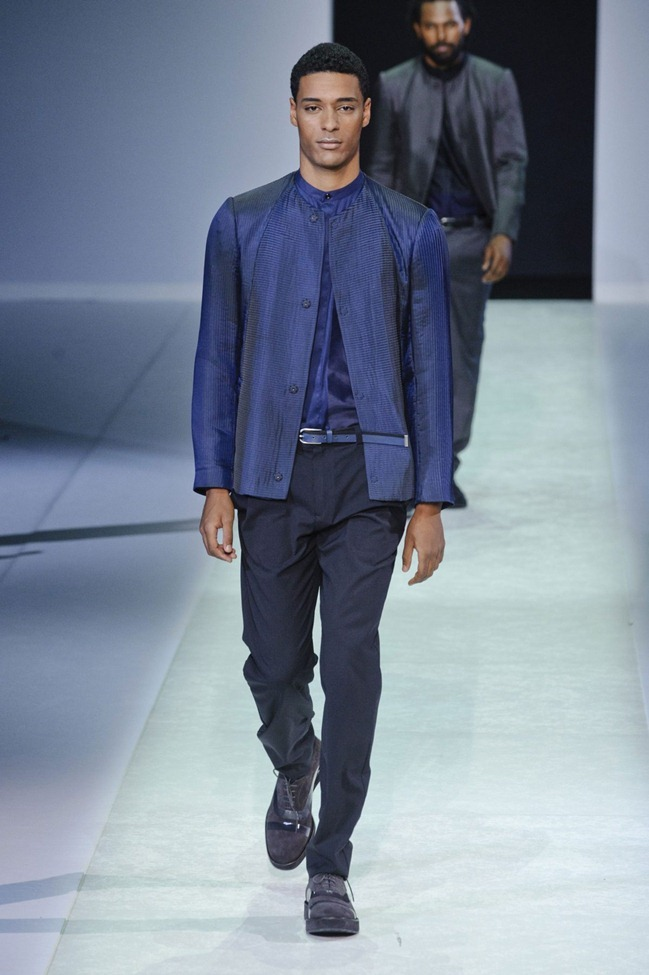 MILAN FASHION WEEK Emporio Armani Men's RTW Spring 2014. www.imageamplified.com, Image Amplified (25)