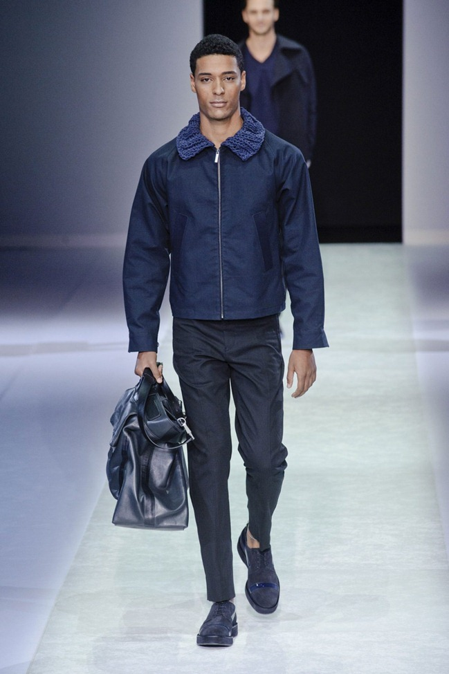 MILAN FASHION WEEK Emporio Armani Men's RTW Spring 2014. www.imageamplified.com, Image Amplified (104)