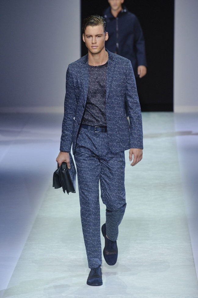 MILAN FASHION WEEK Emporio Armani Men's RTW Spring 2014. www.imageamplified.com, Image Amplified (107)