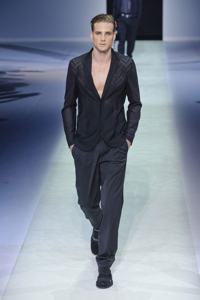MILAN FASHION WEEK Emporio Armani Men's RTW Spring 2014. www.imageamplified.com, Image Amplified (109)