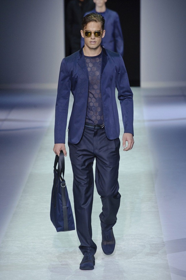 MILAN FASHION WEEK Emporio Armani Men's RTW Spring 2014. www.imageamplified.com, Image Amplified (113)