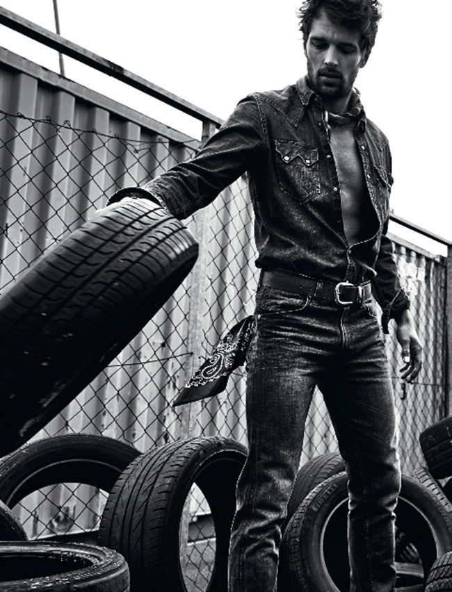 L'OFFICIEL HOMMES Michael Gstoettner in Dirty Denim by Irina Gavrich. www.imageamplified.com, Image Amplified (7)