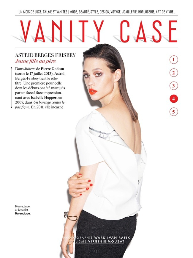 VANITY FAIR FRANCE Astrid Berges-Frisbey in VAnity Case by Ward Ivan RAfik. Virginie Mouzat, July 2013, www.imageamplified.com, Image Amplified (5)