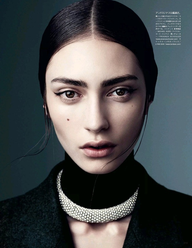 VOGUE JAPAN- Marine Deleeuw in Dressing In Black And White by Steven Pan. Vanessa Traina, August 2013, www.imageamplified.com, Image Amplified (5)