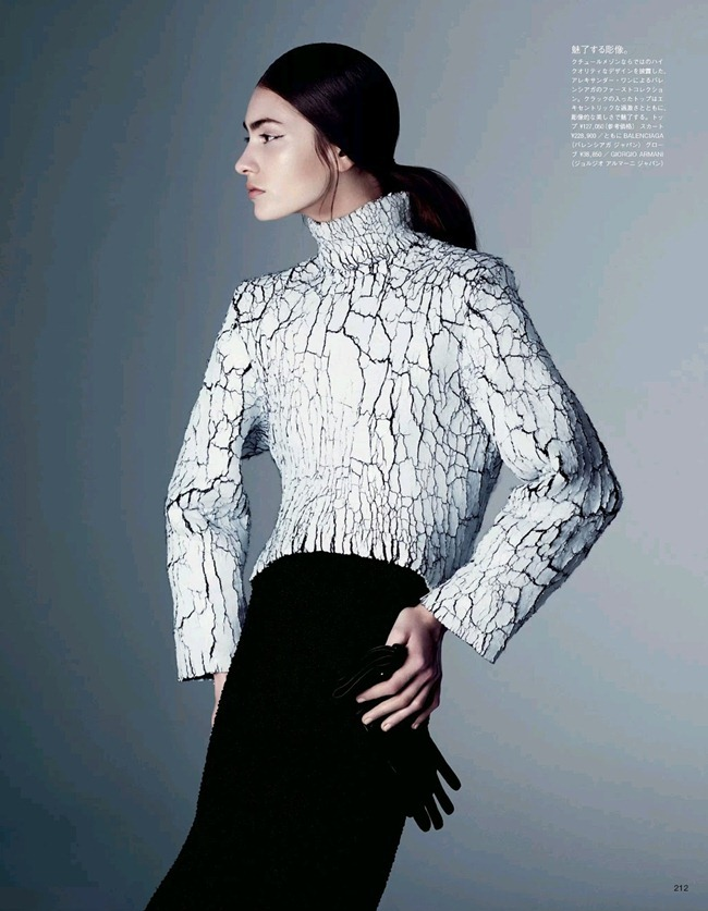 VOGUE JAPAN- Marine Deleeuw in Dressing In Black And White by Steven Pan. Vanessa Traina, August 2013, www.imageamplified.com, Image Amplified (7)