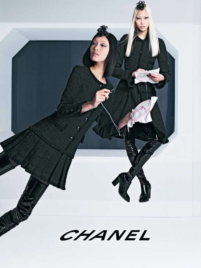 CAMPAIGN Ashleigh Good, Soo Joo & Chiharu Okunugi for Chanel Fall 2013 by Karl Lagerfeld. www.imageamplified.com, Image Amplified (6)