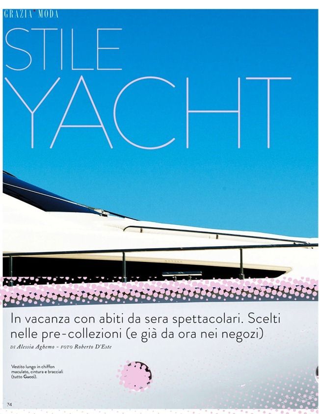 GRAZIA ITALIA Vanessa Hegelmaier in Stile Yacht by Roberto D'este. Alessia Aghemo, July 2013, www.imageamplified.com, Image Amplified (1)