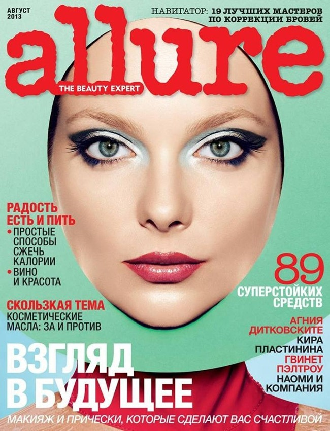 ALLURE RUSSIA- Eniko Mihalik in It's Fantastic by Valter Chin. Anna Ziourova, August 2013, www.imageamplified.com, Image Amplified