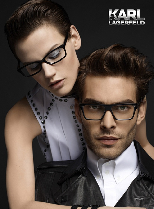 CAMPAIGN- Jon Kortajarena & Saskia de Brauw for Karl Lagerfeld Eyewear Fall 2013 by Karl Lagerfeld. www.imageamplified.com, Image Amplified