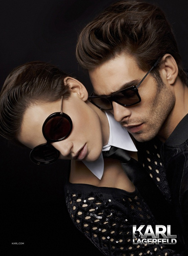CAMPAIGN- Jon Kortajarena & Saskia de Brauw for Karl Lagerfeld Eyewear Fall 2013 by Karl Lagerfeld. www.imageamplified.com, Image Amplified (2)