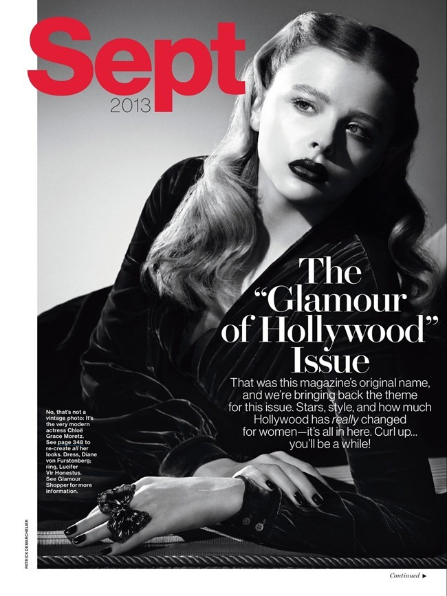 GLAMOUR MAGAZINE- Chloe Grace Moretz in Superstar Beauty by Patrick Demarchelier. Melissa Ventosa Martin, September 2013, www.imageamplified.com, Image Amplified