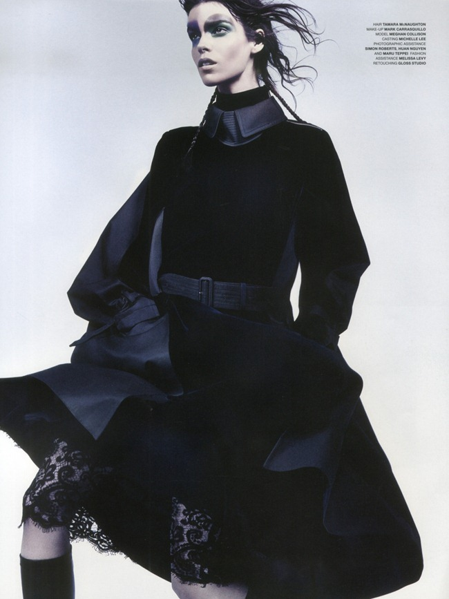 LOVE MAGAZINE- Meghan Collison in Sacai by Craig McDean. Karl Templer, Fall 2013, www.imageamplified.com, Image Amplified (2)