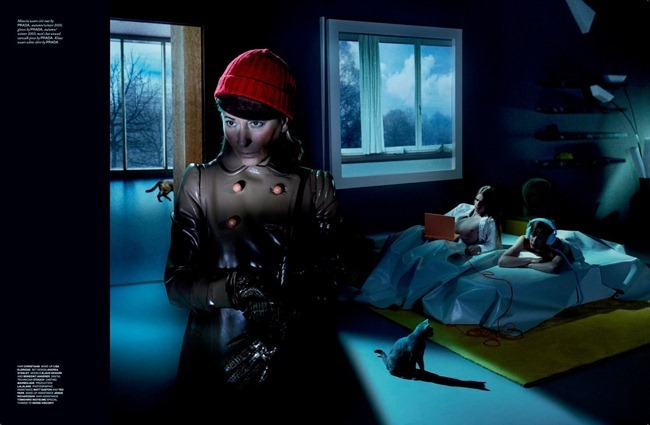 LOVE MAGAZINE- Miuccia Prada, Benedikt Angerers & Klaus Vaivars in Tangerine Dream by Mert & Marcus. Katie Grand, Fall 2013, www.imageamplified.com, Image Amplified (3)