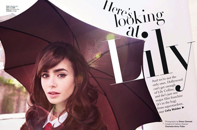 GLAMOUR UK- Lily collins in Here's Looking At Lily by Simon Emmet. September 2013, www.imageamplified.com, Image Amplified (1)
