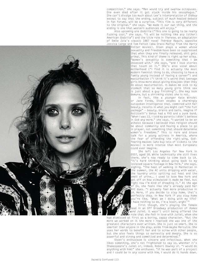 DAZED & CONFUSED MAGAZINE- Elizabeth Olsen in Sweet Valley Idol by Angelo Pennetta. Robbie Spencer, September 2013, www.imageamplified.com, Image Amplified (2)