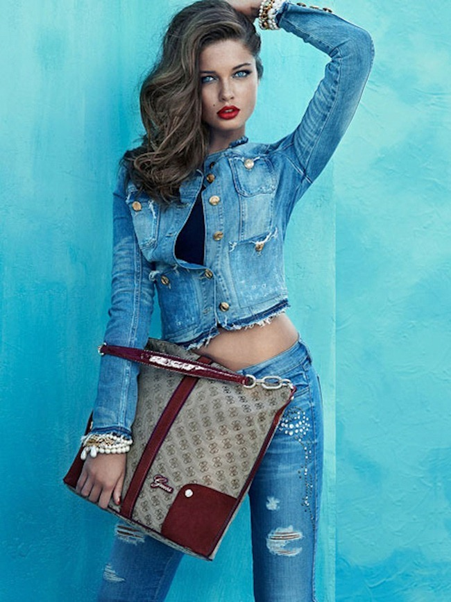 CAMPAIGN- Sandrah Hellberg & Dioni Tabbers for Guess Fall 2013 by Claudia & Falf Pulmanns. www.imageamplified.com, Image Amplified