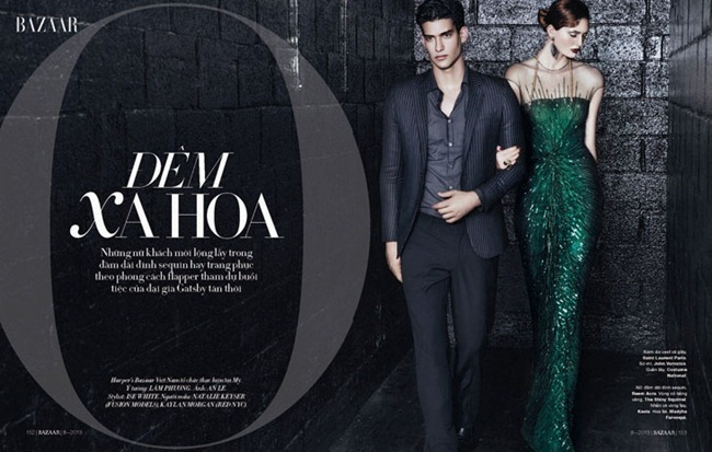 HARPER'S BAZAAR VIETNAM- Natalie Keyser & Kaylan Morgan in One Night Only by An Le. Ise White, www.imageamplified.com, Image Amplified
