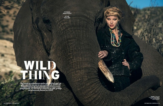 L'OFFICIEL NETHERLANDS- Marloes Horst in Wild Things by Mason Poole. September 2013, www.imageamplified.com, Image Amplified