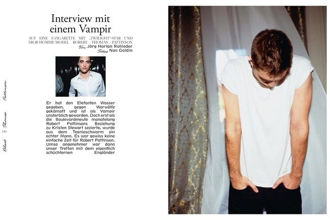 INTERVIEW GERMANY- Robert Pattinson by Nan Golden. September 2013, www.imageamplified.com, Image Amplified