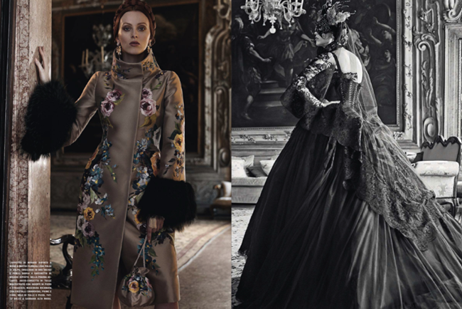 VOGUE ITALIA- Ava Smith & Karen Elson in Beyond The Dream by Craig McDean. Tabitha Simmons, September 2013, www.imageamplified.com, Image Amplified (2)