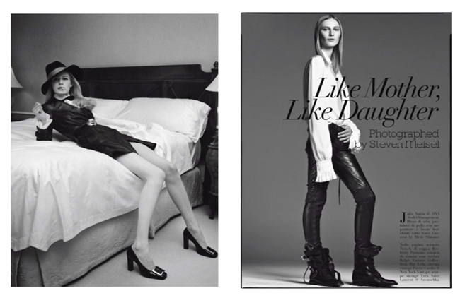 VOGUE ITALIA- Like Mother, Like Daughter by Steven Meisel. Marie-Amelie Sauve, September 2013, www.imageamplified.com, Image Amplified
