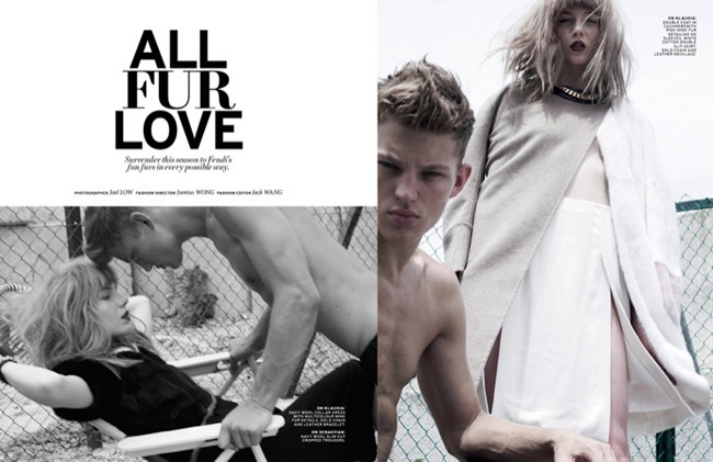 L'OFFICIEL SINGAPORE- Sebastian Sauve & Klaudia Pulik in Fall's Revolution by Jumius Wong & Jack Wang. Fall 2013, www.imageamplified.com, Image Amplified (1)