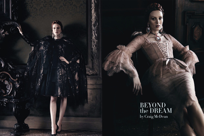VOGUE ITALIA- Ava Smith & Karen Elson in Beyond The Dream by Craig McDean. Tabitha Simmons, September 2013, www.imageamplified.com, Image Amplified