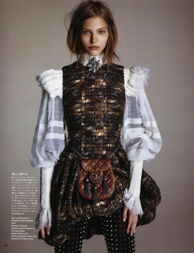 VOGUE JAPAN- Sasha Luss in The Way of the Warrior by Luigi & Danielle   Iango. George Cortina, October 2013, www.imageamplified.com, Image Amplified (6)