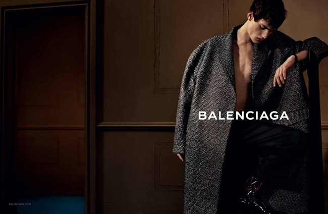 CAMPAIGN- Sylvester Ulv Henriksen for Balenciaga Menswear Fall 2013 by Josh Olins. www.imageamplified.com, Image Amplified