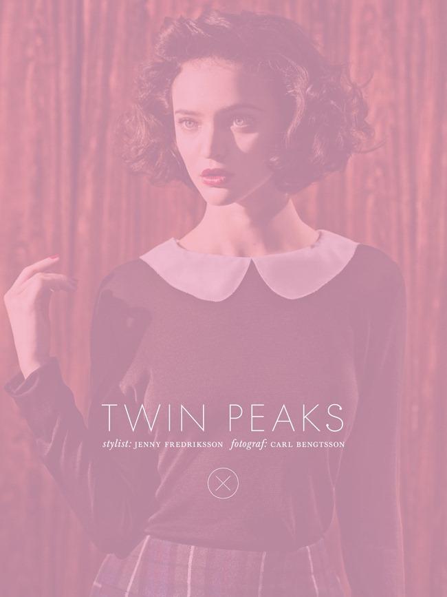ELLE SWEDEN- Celia Becker in Twin Peaks by Carl Bengtsson. Jenny Fredriksson, September 2013, www.imageamplified.com, Image Amplified