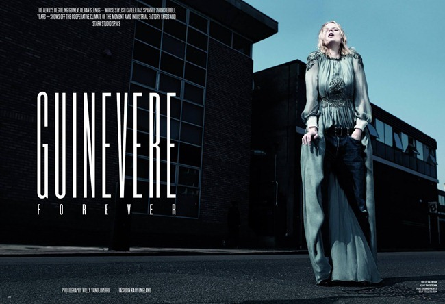 V MAGAZINE- Guinevere van Seenus in Guinevere Forever by Willy Vanderperre. Katy England, Fall 2013, www.imageamplified.com, Image Amplified (1)