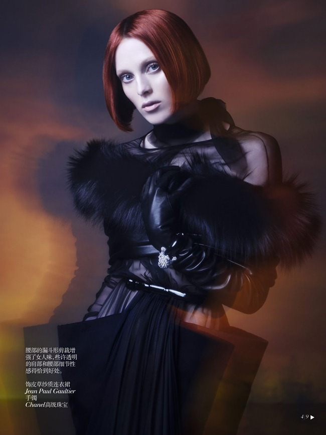 VOGUE CHINA- Karen Elson in Shadow Dream by Solve Sundsbo. Nicoletta Santoro, Fall 2013, www.imageamplified.com, Image Amplified (3)