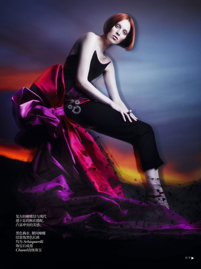 VOGUE CHINA- Karen Elson in Shadow Dream by Solve Sundsbo. Nicoletta Santoro, Fall 2013, www.imageamplified.com, Image Amplified (5)