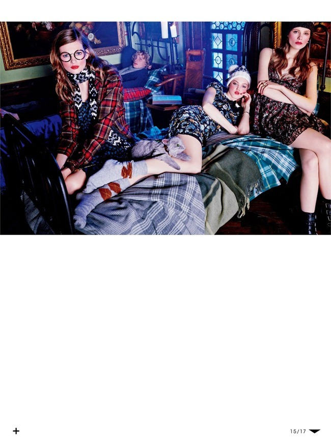 VOGUE JAPAN- Lindsey Wixson, Bette Franke & Caroline Brasch Nielsen in The New School Uniform by Giampaolo Sgura. Anna Dello Russo, October 2013, www.imageamplified.com, Image Amplified (14)